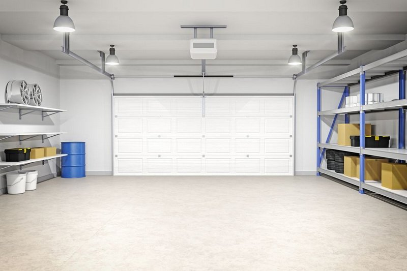 Choose light colors for your garage