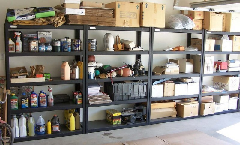 Shelves in the garage