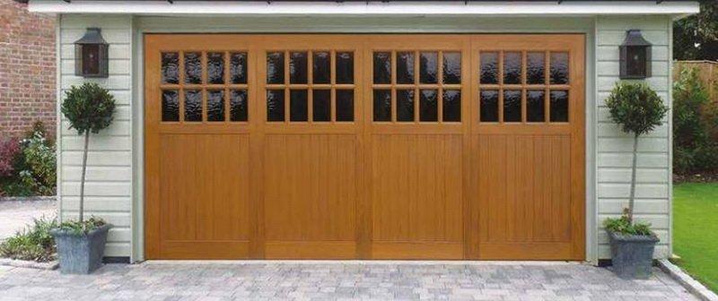 Mid-Century Modern Garage Doors Using Composite Wood
