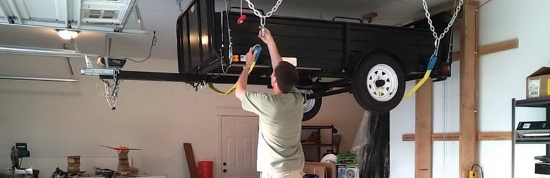 Overhead Garage Storage Ideas for trailer