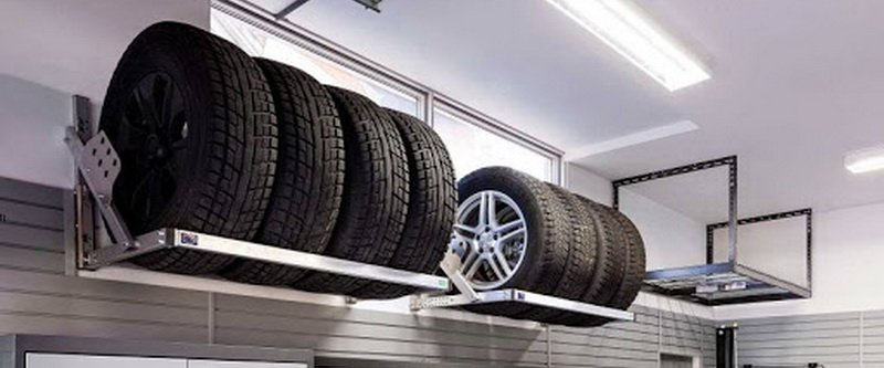 Overhead Garage Storage for tires