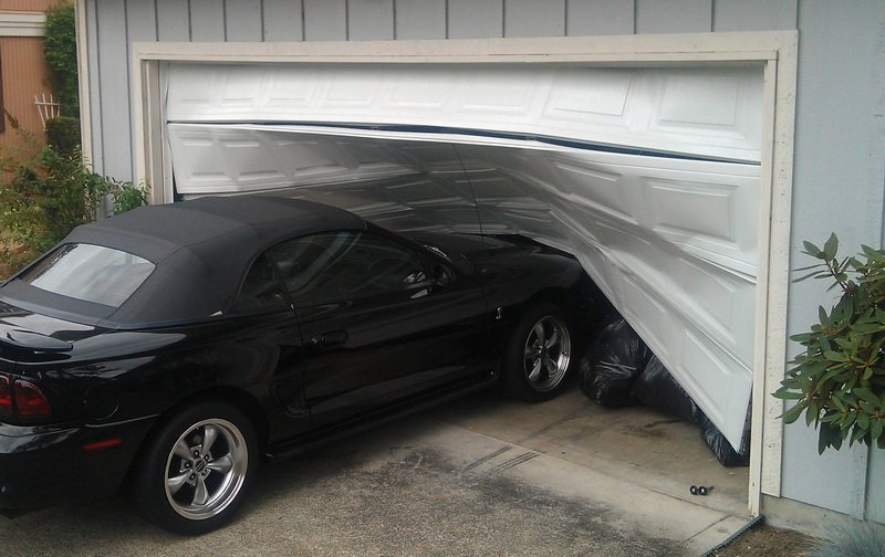 Garage door replacement panels