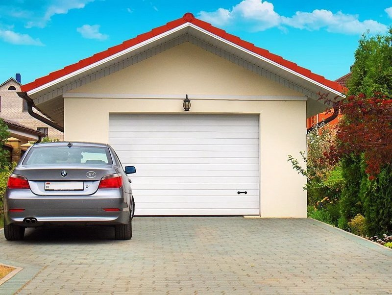 Standard garage door height for Ordinary car