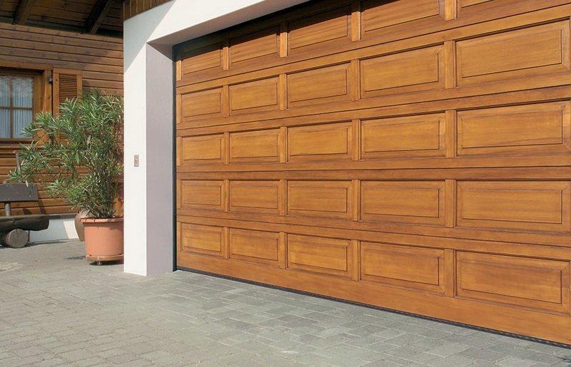 Wooden garage door panels