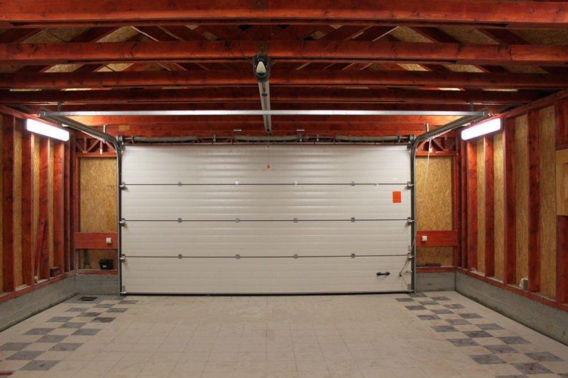door 2 car garage inside